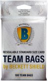 Beckett Shield: Team Bags Resealable Standard Size Card 100ct. / Sacs Refermable pour Carte Standard