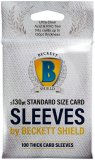 "Beckett Shield: Sleeves Thick 130pt. Standard Size / Protecteur de type ""Sleeve"" pour Cartes Épaisses"