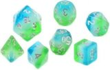 Sirius Dice: Set de 7 dés - Bleu Hawai / Blue Hawaiian Dice Set (d20 Suppl. en Bonus)
